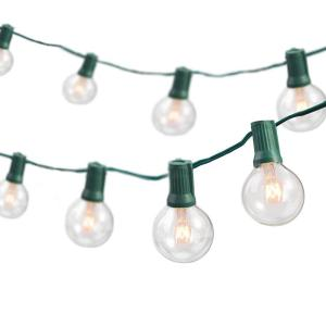 Newhouse Lighting 25 ft. Indoor/Outdoor Weatherproof Party String Lights with 25... from Light Sockets