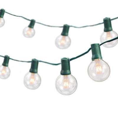 Newhouse lighting string lights outdoor lighting the home depot indooroutdoor weatherproof party string lights with 25 sockets light bulbs included aloadofball Gallery