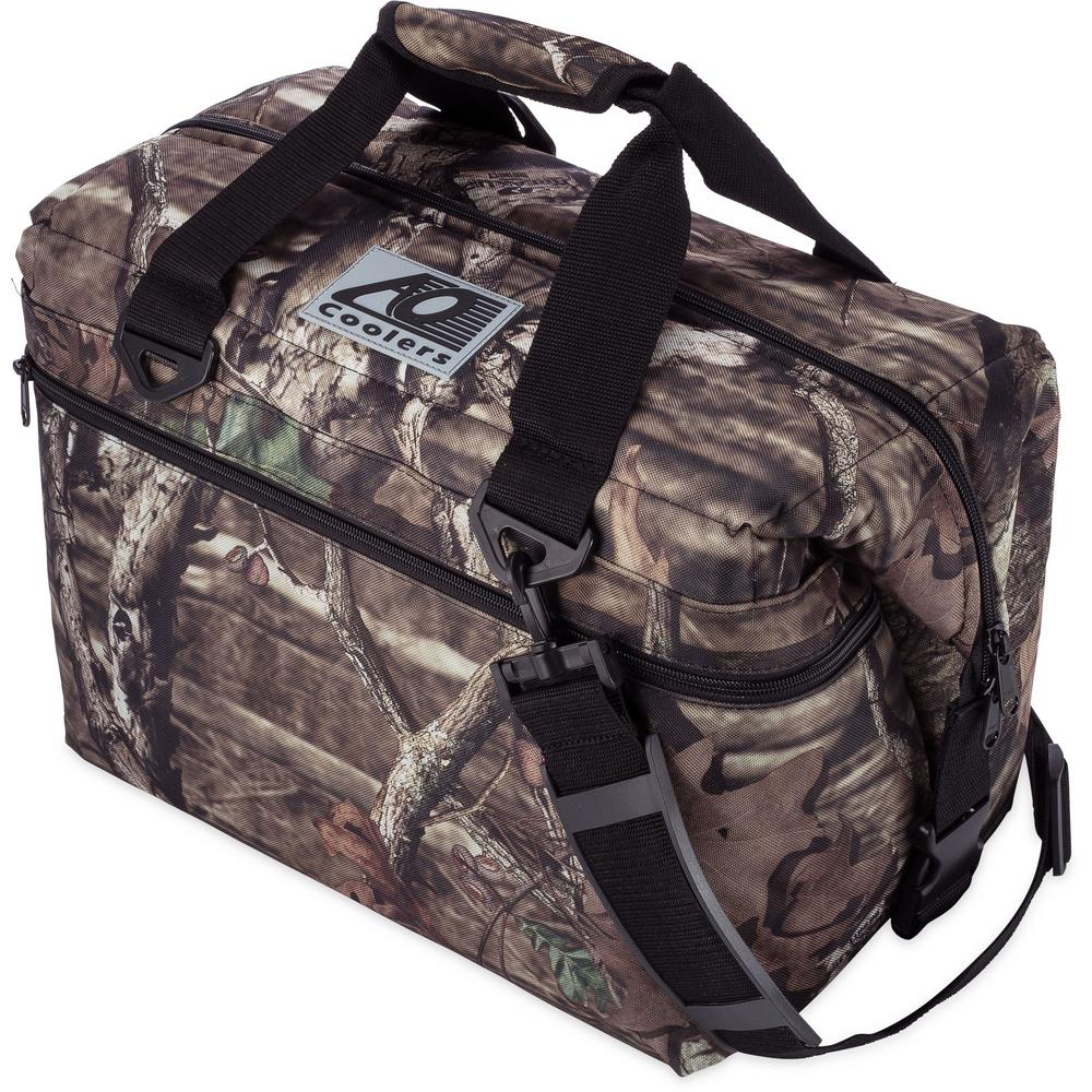 Soft Canvas Cooler With Shoulder Strap And Wide Outside Pocket