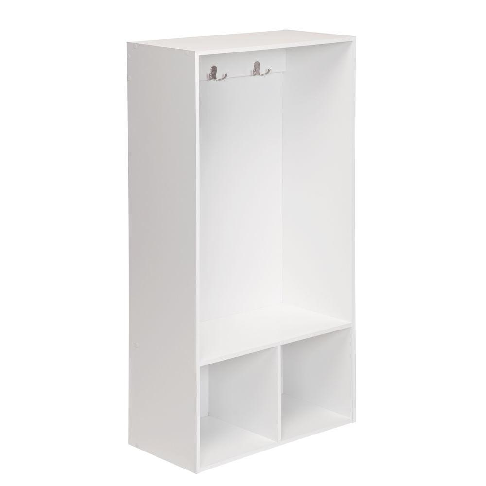 Cubeicals 24 in. W x 47 in. H White 2-Cube Storage