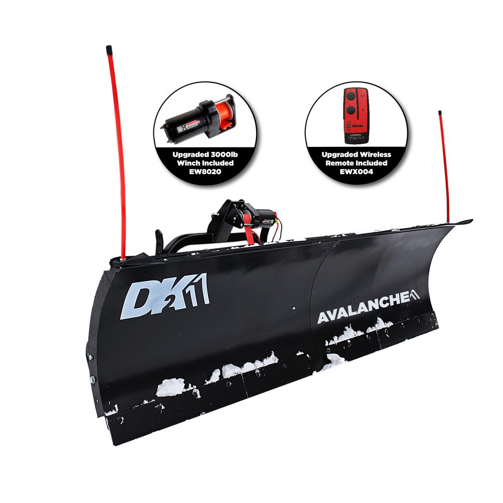 Detail K2 Avalanche Series 82 in. x 19 in. Universal Mount Snow Plow on plow wheels, meyer plow harness, plow wiring accessories,