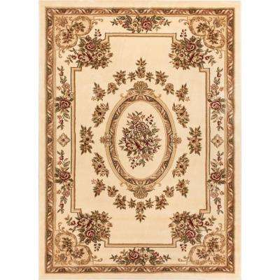 Timeless Le Petit Palais Ivory 7 ft. x 9 ft. Traditional Classical Area Rug