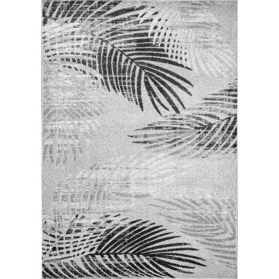 Syn Floral Imprint Gray 5 ft. x 8 ft.  Area Rug