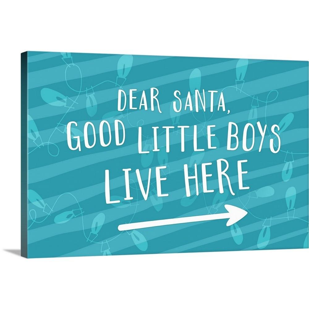 GreatBigCanvas ''Good Little Boys - Blue'' by Inner Circle Canvas Wall