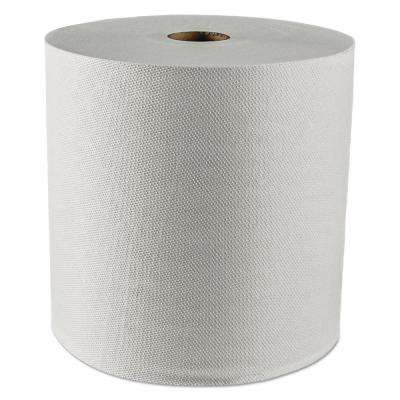"Essential 1.5"" Core Plus Hard Roll Towels 8 in. x 425 ft. White (12 Rolls per Carton)"