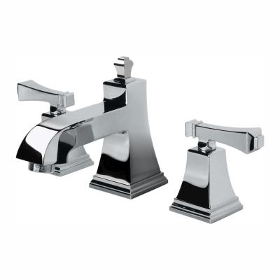 Exhibit 8 in. Widespread 2-Handle Low-Arc Bathroom Faucet in Chrome