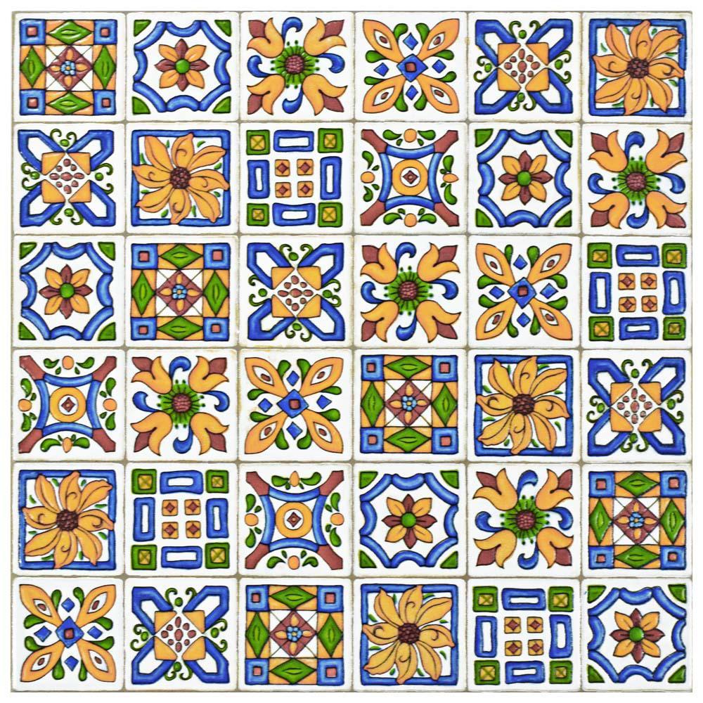 Techniker Der Farbe 11-3/4 in. x 11-3/4 in. Ceramic Wall Tile
