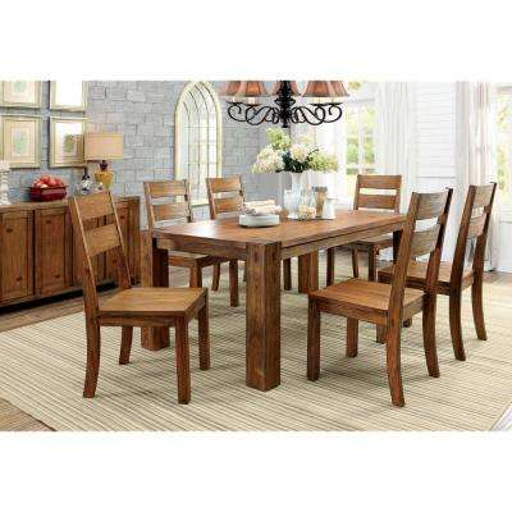 Frontier Dark Oak Rustic Style Dining Table