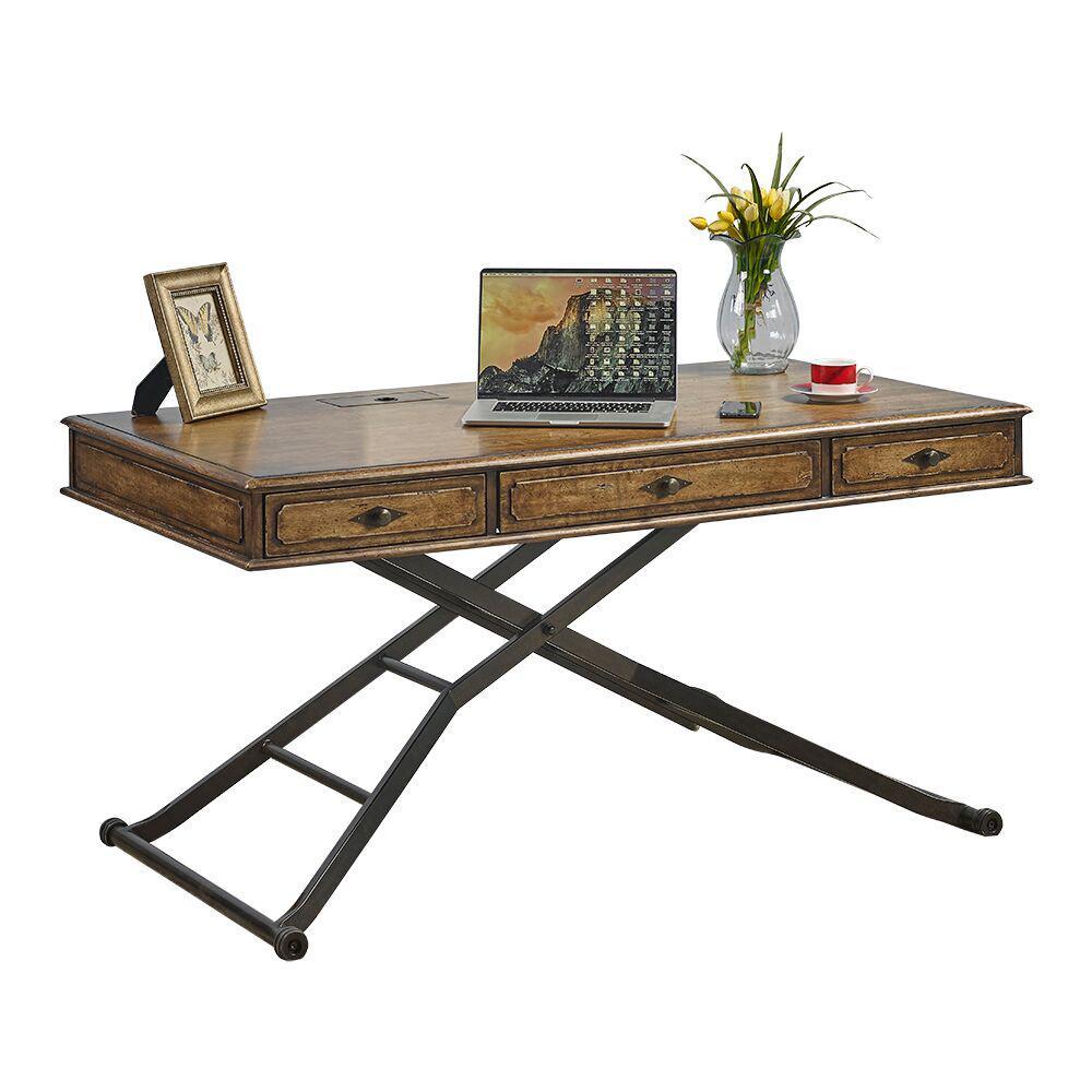 Weston Coffee Sit 'N Stand Desk Sit N' Stand Wood Desk