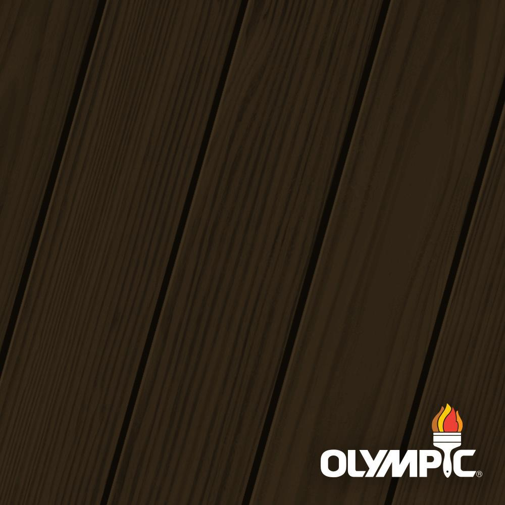 Olympic Elite 8-oz. Dark Bark ESS6 Semi-Solid Exterior Stain and Sealant in One Low VOC