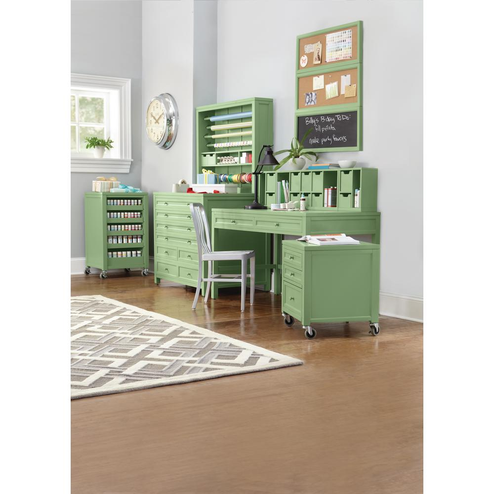 Martha Stewart Living Craft Space 42 In. W 8 Drawer Flat File Cabinet In  Rhododendron Leaf 0464000600   The Home Depot