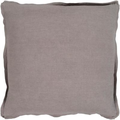 Zevgari Brown Solid Polyester 22 in. x 22 in. Throw Pillow