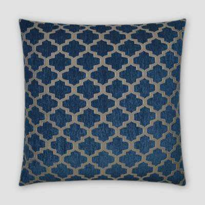 Keaton Blue Feather Down 18 in. x 18 in. Standard Decorative Throw Pillow