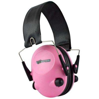 Electronic Ear Muff with 4 AAA in Pink