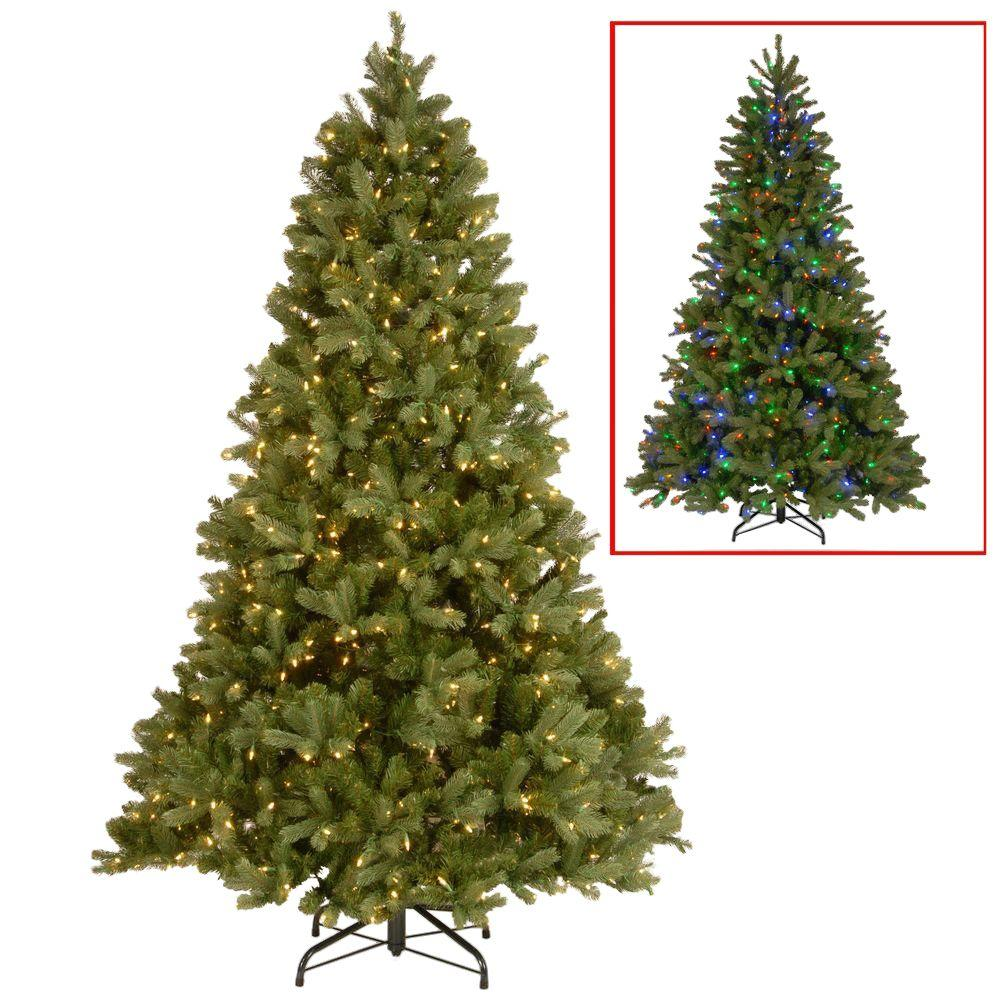 7.5 ft. Downswept Douglas Fir Artificial Christmas Tree with Dual Color