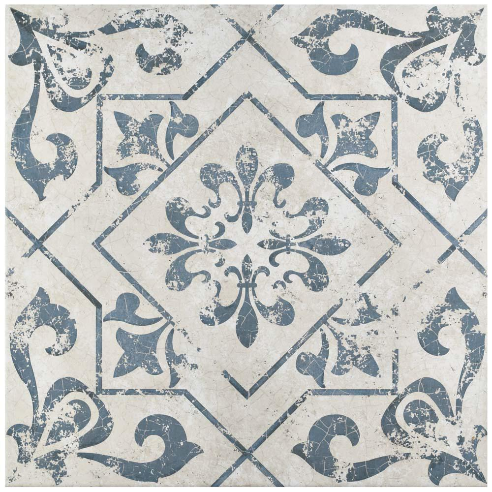 Merola Tile Lotto Cobalto 17-3/4 in. x 17-3/4 in. Ceramic Floor and Wall Tile (15.75 sq. ft. / case)