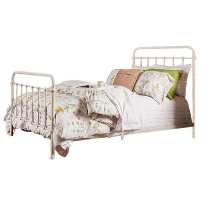 White Sophisticated Metal Queen Bed