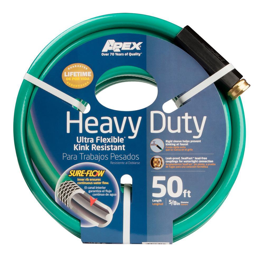 Apex Digital 5/8 in. Dia x 50 ft. Heavy Duty Water Hose