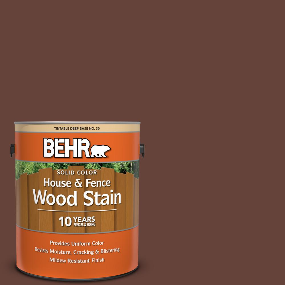 BEHR 1 gal. #SC-117 Russet Solid Color House and Fence Exterior Wood Stain