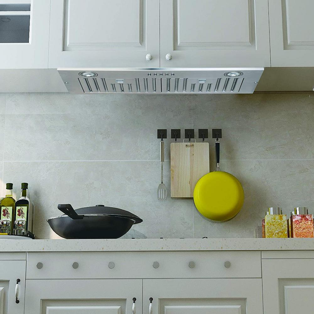 Home Beyond 36 In 600 Cfm Wall Mounted Range Hood With Light In Stainless Steel H70 36 The Home Depot