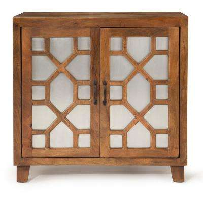 Savannah Accent Cabinet - Brown Mango wood with iron sheet accent