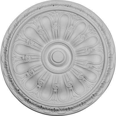 15-3/4 in. OD x 5/8 in. P (Fits Canopies up to 3-3/4 in.) Kirke Ceiling Medallion