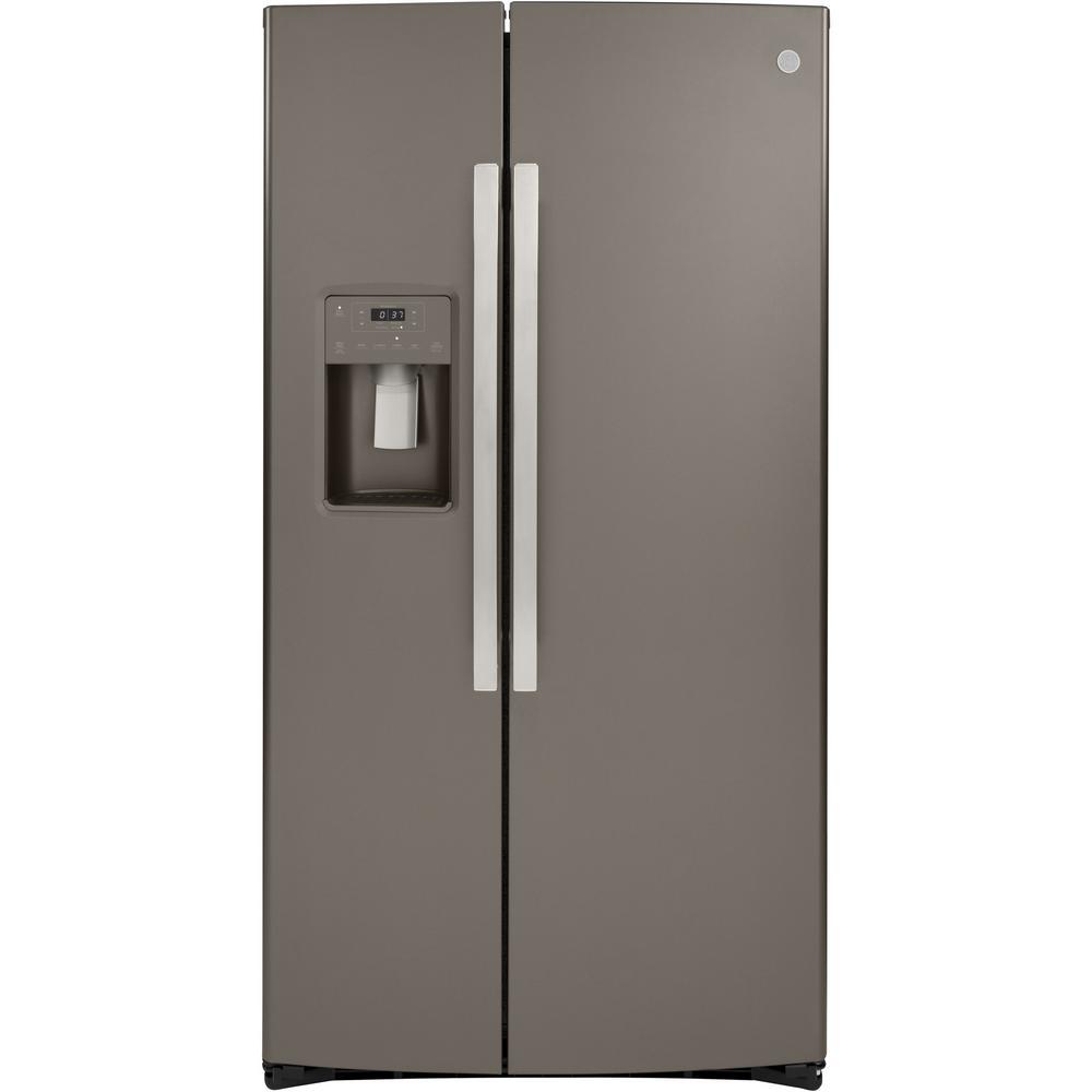 25.1 cu. Ft. Side by Side Refrigerator in Slate, Fingerprint Resistant