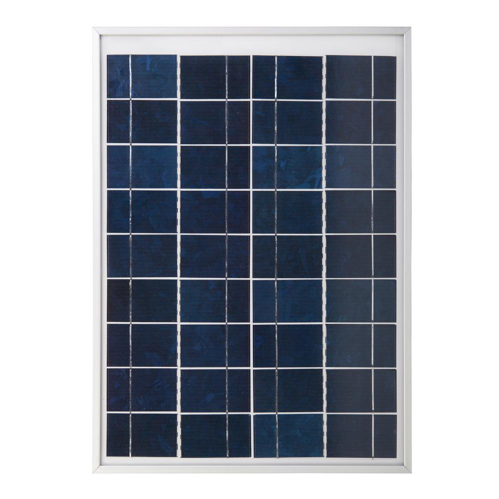 Coleman 20-Watt Polycrystalline 12-Volt Solar Panel The Coleman 20W Crystalline Solar Panel is the ideal choice for generating power in remote locations or as a part of a back-up power system.