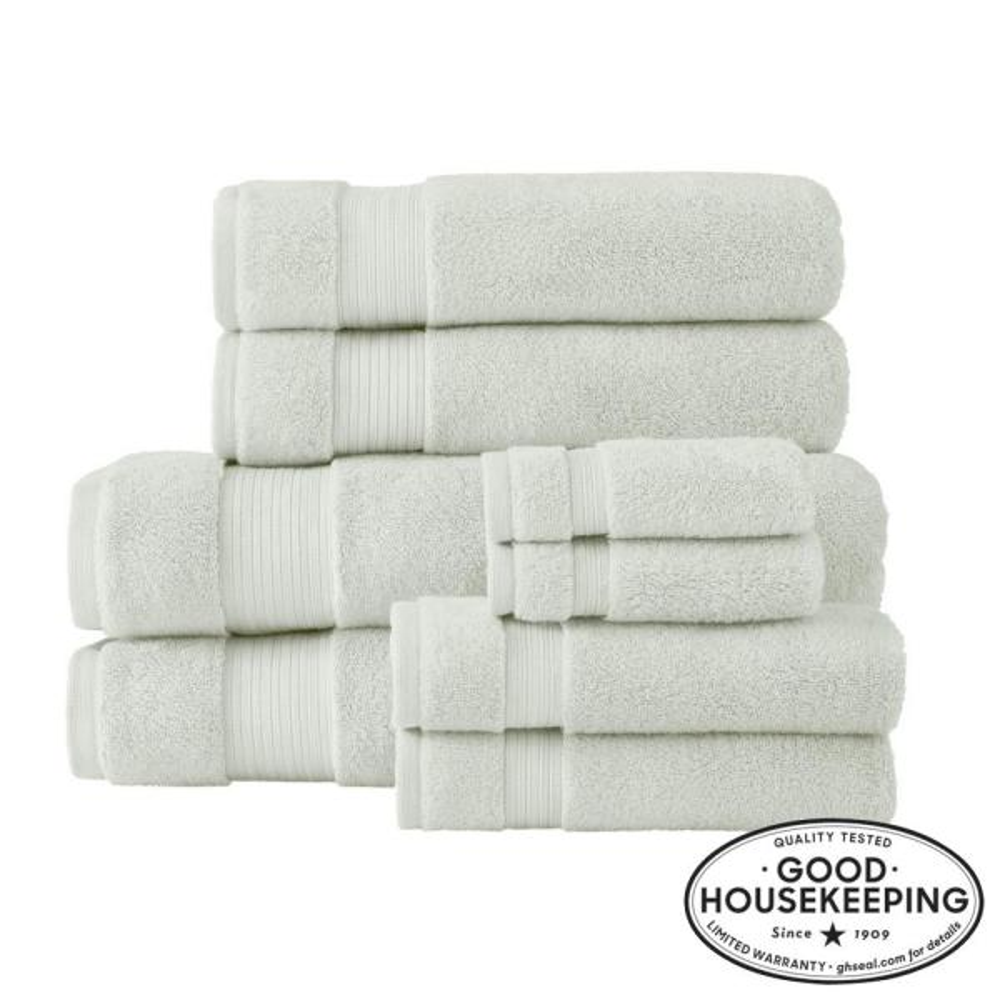 Egyptian Cotton 8-Piece Bath Sheet Towel Set in Sage