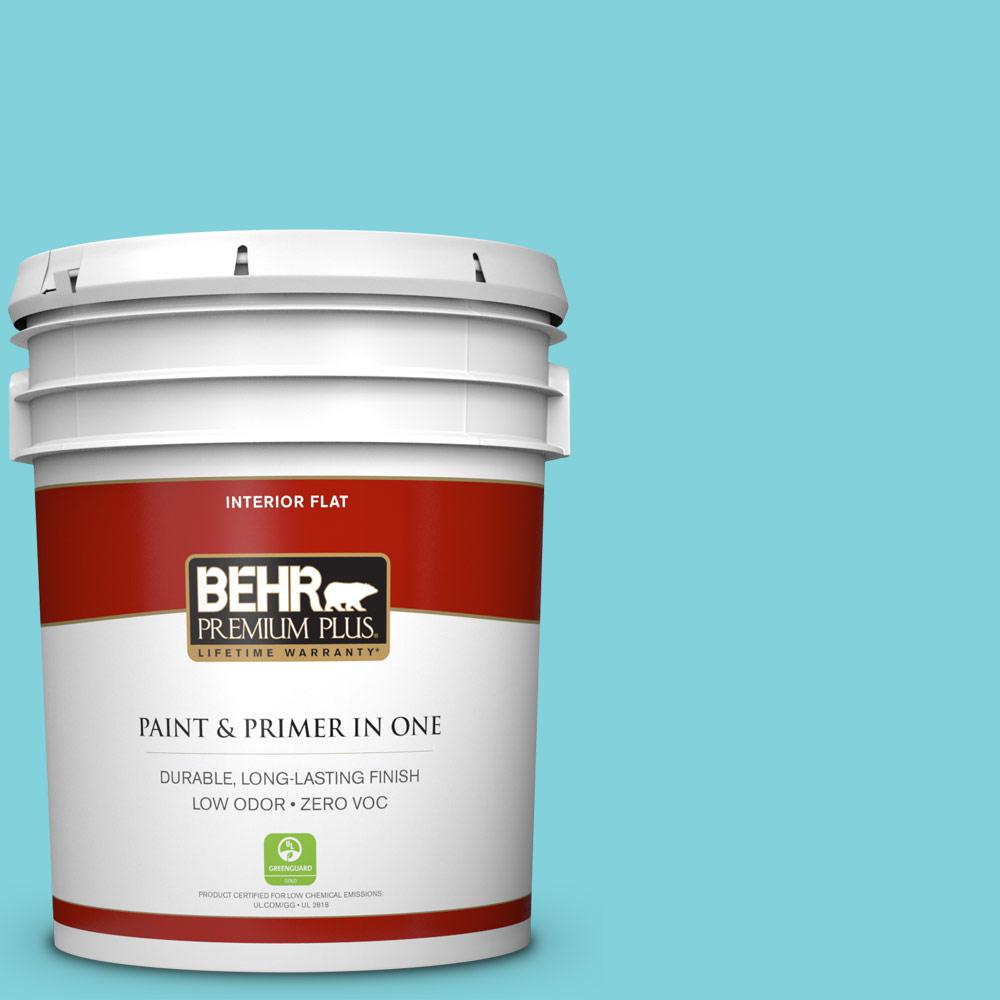 BEHR Premium Plus 5-gal. #510B-4 Cloudless Zero VOC Flat Interior Paint