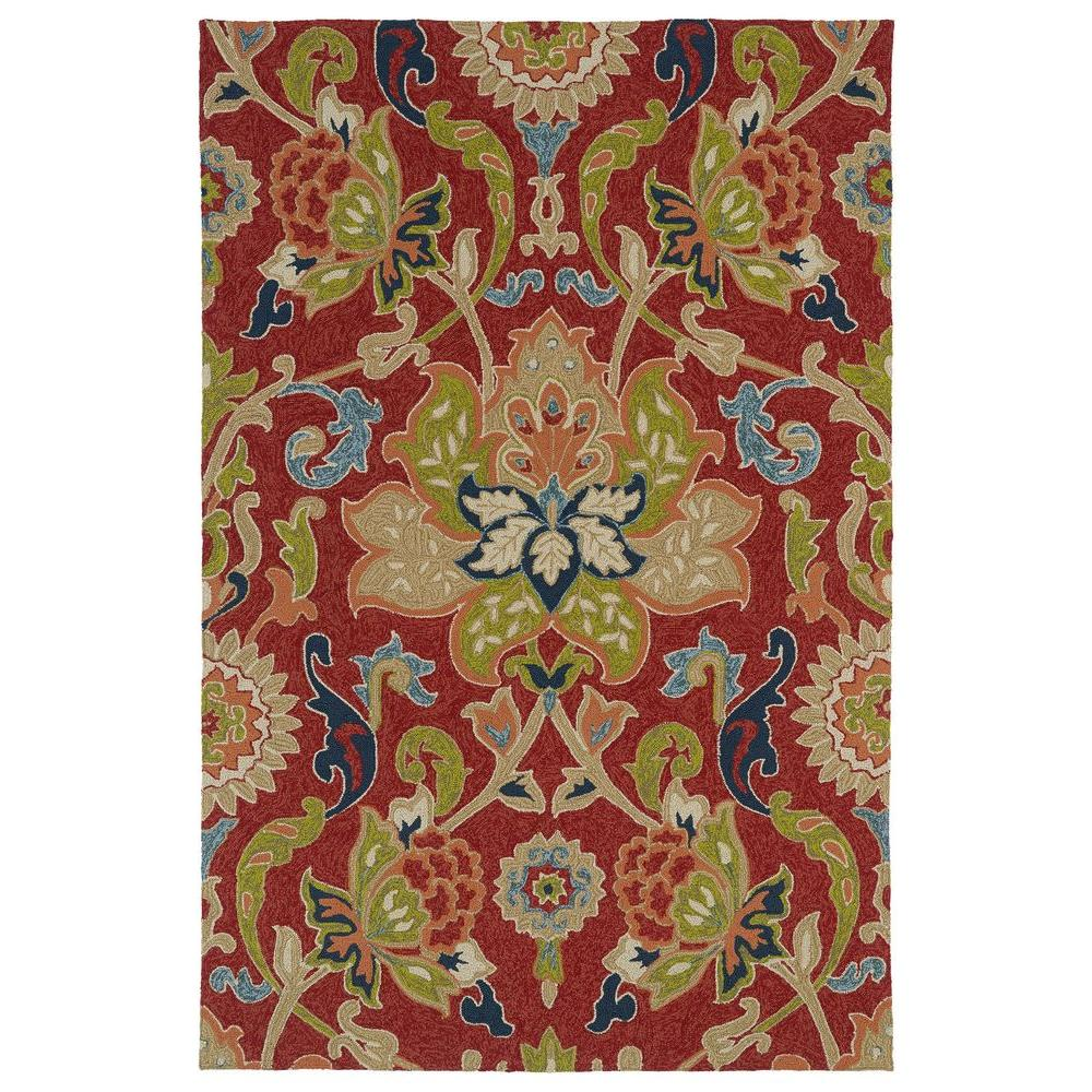 Kaleen Home and Porch Red 2 ft. x 3 ft. Indoor/Outdoor Area Rug