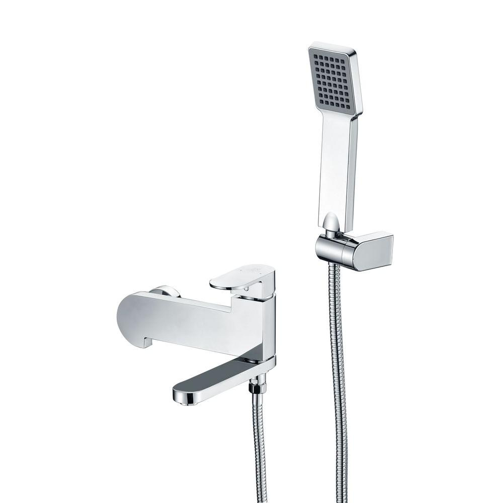 Echo Series 1-Handle 1-Spray Tub and Shower Faucet in Polished Chrome