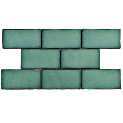 Antic Special Lava Verde 3 in. x 6 in. Ceramic Wall Tile (1 sq. ft. / pack)