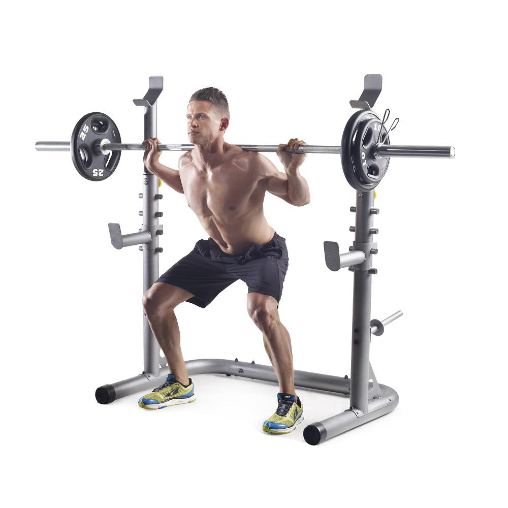 Olympic Width Frame Rack Home Gym Weight Squat Bench Press Lifting ...
