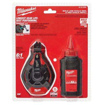 100 ft. Bold Line Chalk Reel Kit with Red Chalk