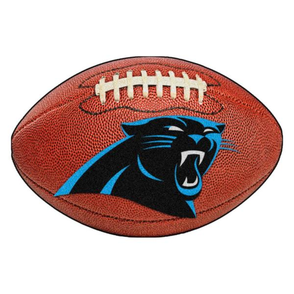 NFL Carolina Panthers Photorealistic 20.5 in. x 32.5 in Football Mat
