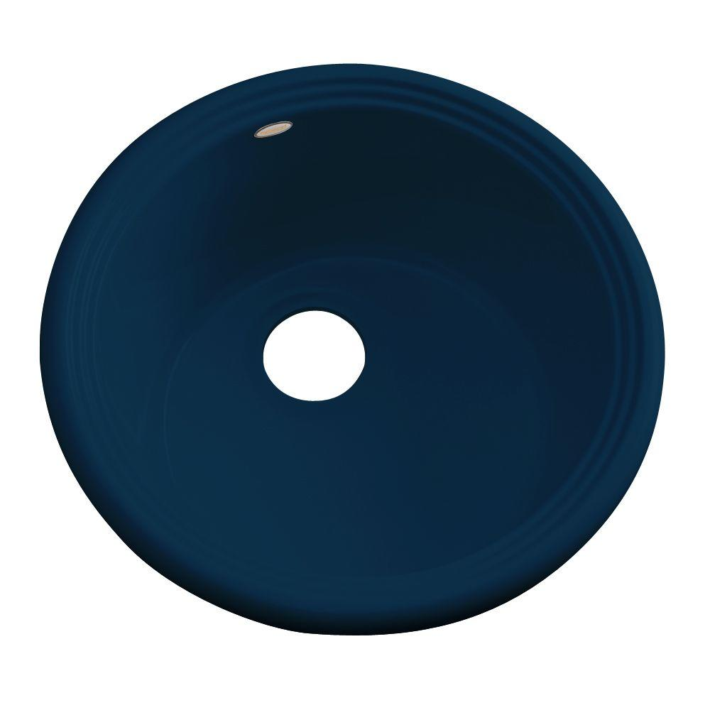 Thermocast Hampton Drop-In Acrylic 18 in. 0-Hole Single Basin Entertainment Sink in Navy Blue