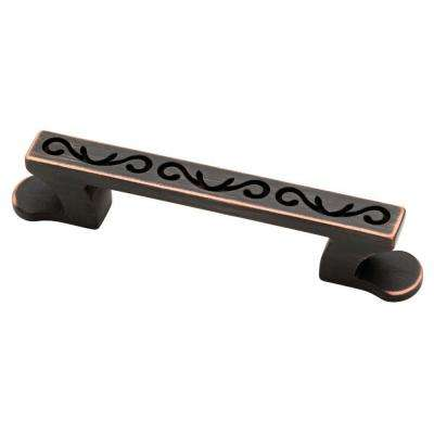 Angevine 3 in. (76mm) Venetian Bronze with Copper Highlights Cabinet Pull