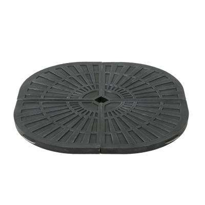 Isla 120.48 lb. Resin Patio Umbrella Base in Brushed Black (4-Set)