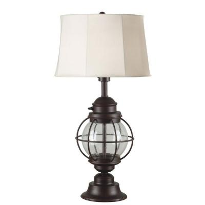 Hatteras 31 in. Gilded Copper Outdoor Table Lamp