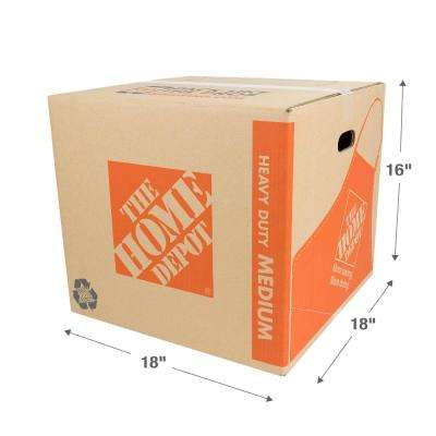 18 in. L x 18 in. W x 16 in. D Heavy-Duty Medium Moving Box with Handles (75-Pack)