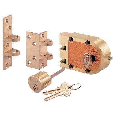 666/667 Segal Single Cylinder Deadbolt Bronze Flat/Angle Strike Brass Box Deadlock