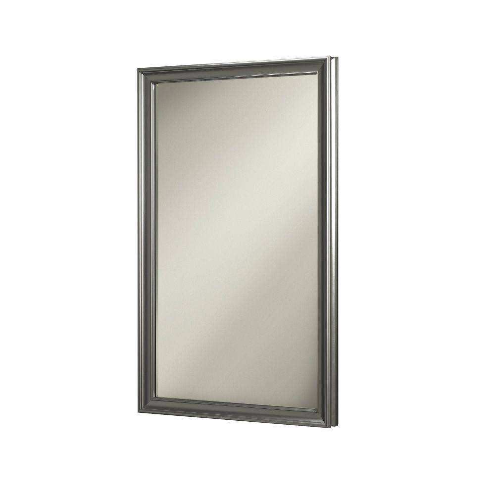 D Recessed Mirrored Medicine Cabinet In Satin Nickel 625N244SNPX   The Home  Depot