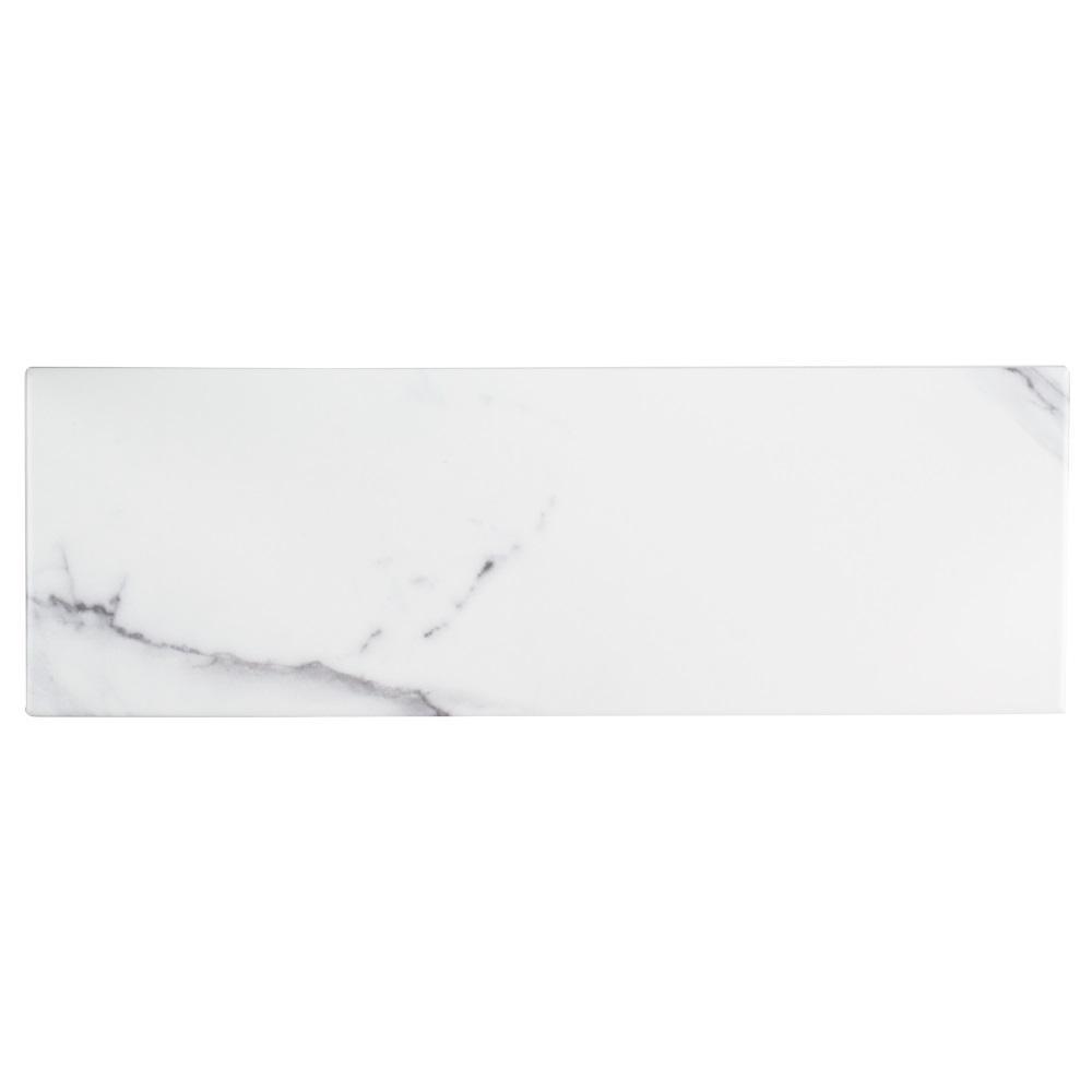 Jeffrey Court Carrara Inkjet 6 in. x 18 in. Ceramic Field Wall Tile (12.75 sq. ft. / case)