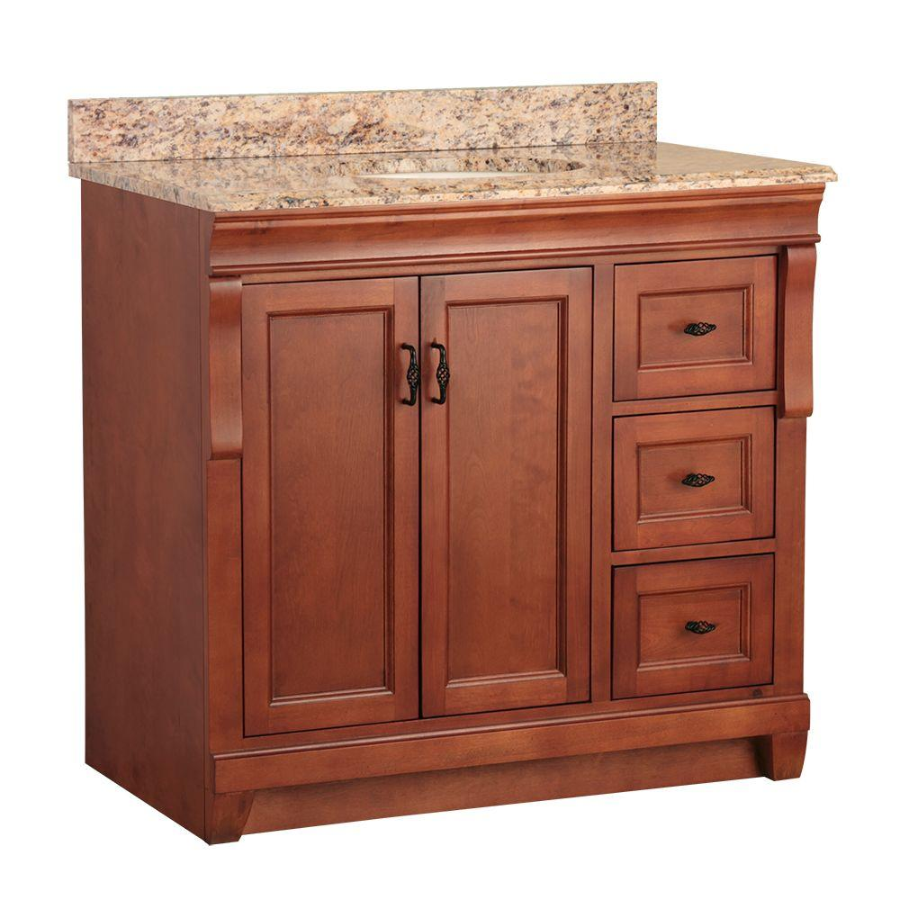 Home Decorators Collection Naples 37 in. W x 22 in. D Bath Vanity in ...