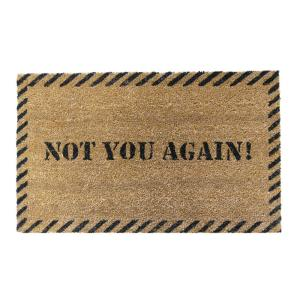 Rubber-Cal Not You Again 18 inch x 30 inch Door Mat by Rubber-Cal