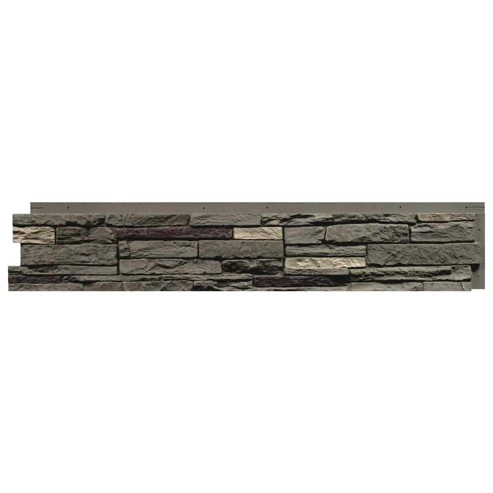 Slatestone Pewter 8.25 In. X 43 In. Faux Stone Siding Panel (8
