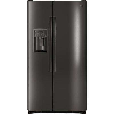 Adora 25.3 cu. ft. Side by Side Refrigerator in Black Stainless Steel, Fingerprint Resistant and ENERGY STAR