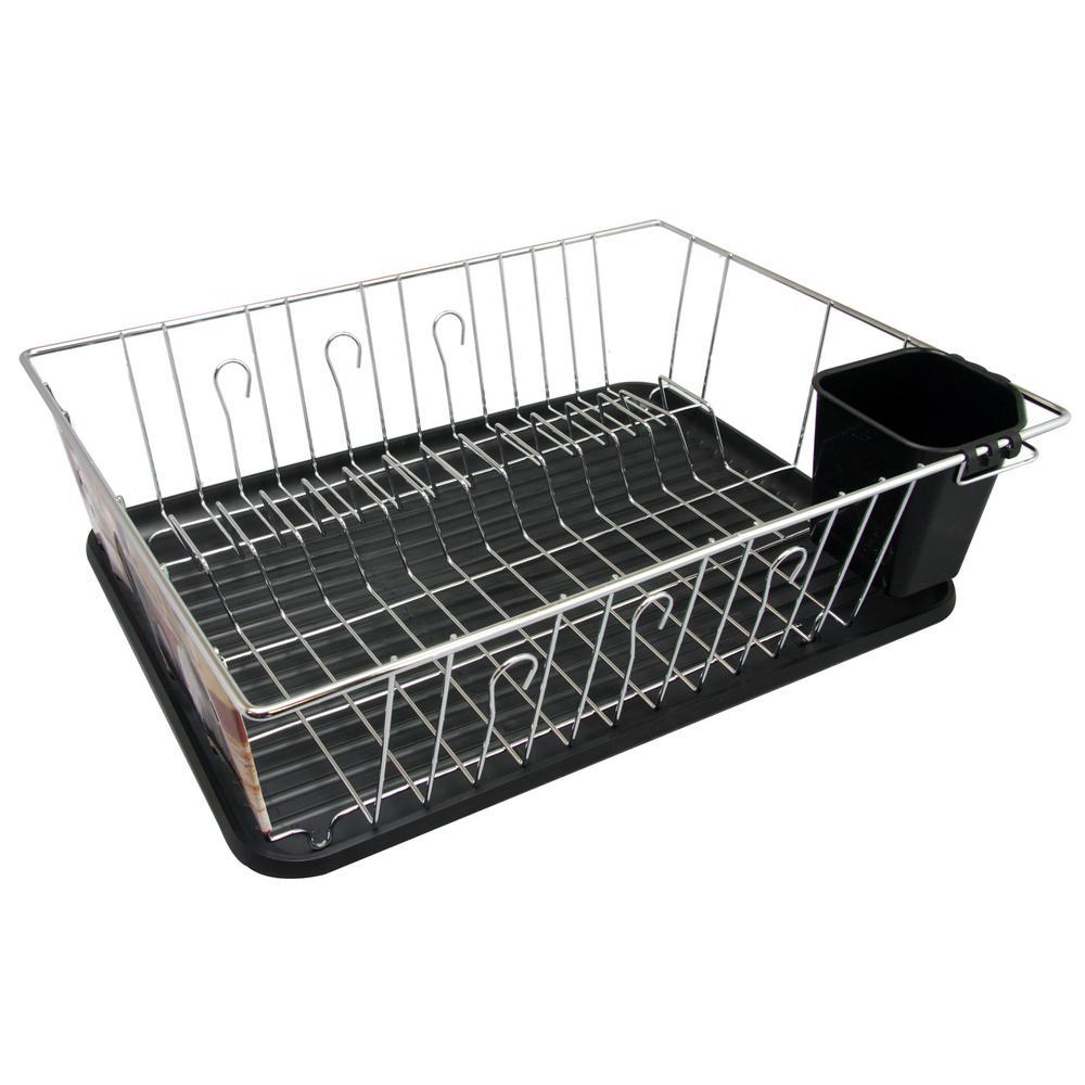 Black Countertop Dish Rack