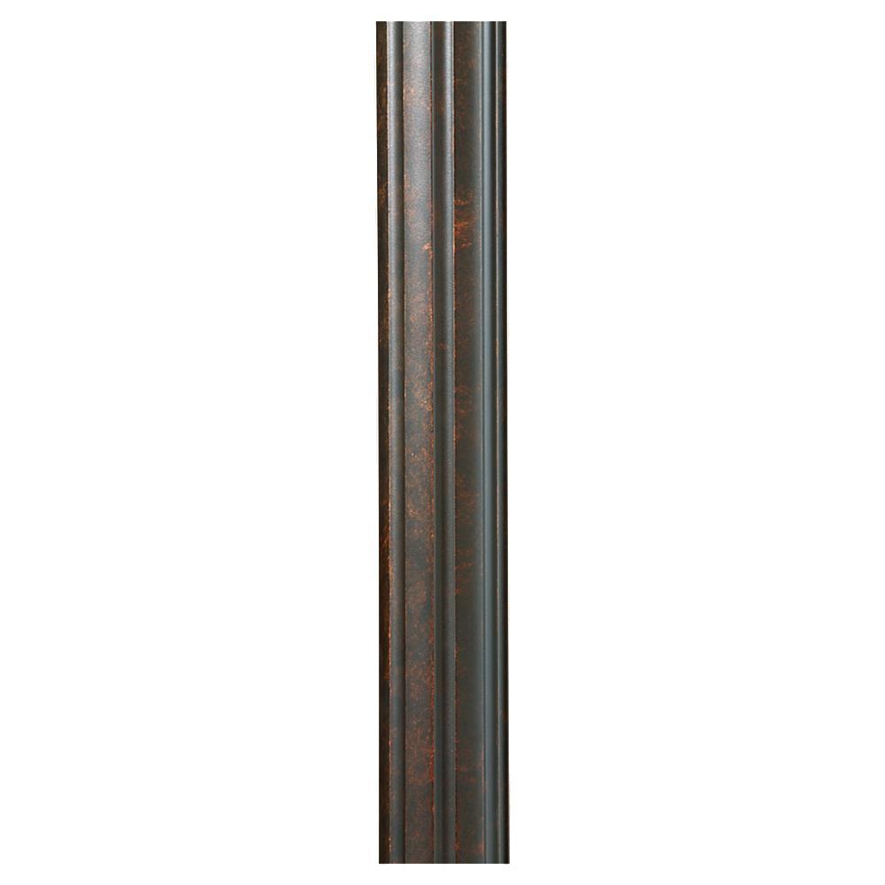 Walnut Fluted Outdoor Lamp Post